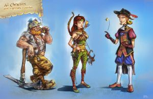 Rpg characters by Anocha