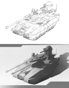 heavy tank concept by mad-jojo