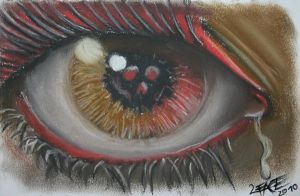 Eye skull pastel chalk by 2Face-Tattoo