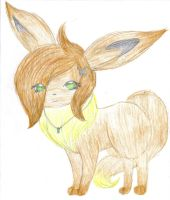Den-Den the Eevee by Insane-Sanety
