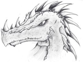 Horny dragon head by LunaMoon1995