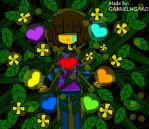 I.WILL.COME.BACK :) (Undertale Frisk and Chara) by GABRIELNGAKO