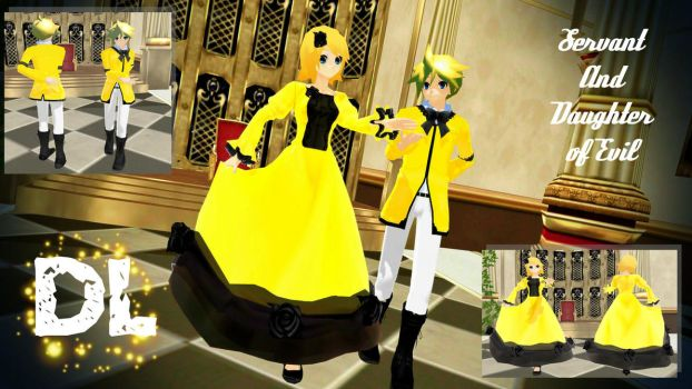 MMD Servant of Evil / Daughter of Evil DL by PrincessSushiCat