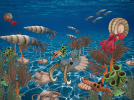 Paleozoic Era Spore by pokequaza