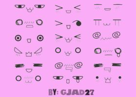 Manga face expression brush set by GJAD27