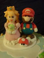 Closeup of Mario and Peach by Catzombies