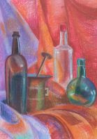 still life with pastel by DianaMolnar