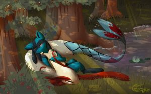 Nap in the Berry Grove by Mimkage