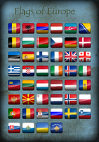 Flags of Europe - Icons by Kristo1594