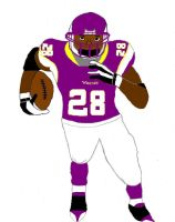 Adrian Peterson with color by Arianoka