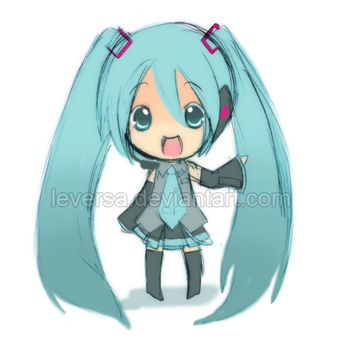 Doodle: Miku by Leversa