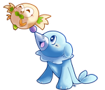 Popplio and Rowlet by LordChatta