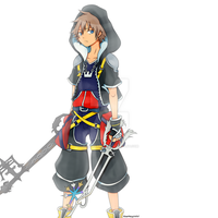 Kingdom Hearts Sora by RoseMary2435