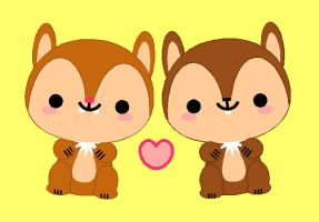 Kawaii Chip 'n Dale by GoodCharlotte81