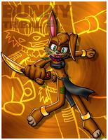 Bunny Tribal Card by Lord-Kiyo