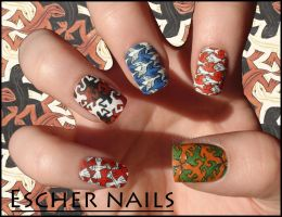 Escher Nails by Ninails