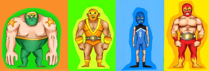 Luchadors by Minelo
