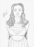 the kiss of Supergirl. by jefterleite