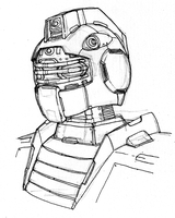 GM Head Sketch by Blayaden