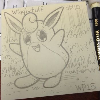 Post-It Note Pokemon #040 Wigglytuff by WillPetrey