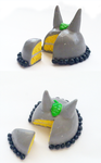 Polymer Clay : Totoro Cake by CraftCandies