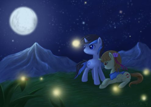 Peaceful night by Bloodmoon1103