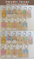 Squeaky Toybox Keychains by SqueakyToybox