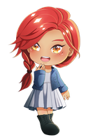 Heather: Chibi 3 by fayntcommissions