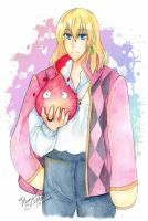 Howl and Calcifer by RegaccoMuelp