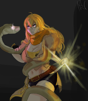 ( rwby) YangXiaoLong and kaa (requested) by lukesChillArt666