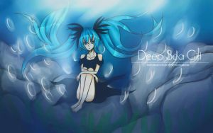 Deep Sea Girl - Hatsune Miku by MidoriKuro-chan10