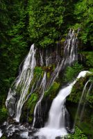 Panther Creek Falls from above by greglief
