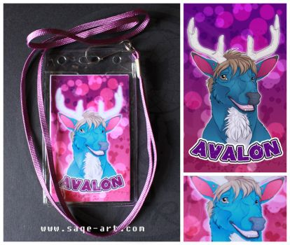 Commission: Avalon - digital badge by SaQe