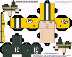 Jim Taylor Packers Cubee by etchings13