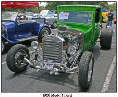 1928 Model T Ford Green by shawn529