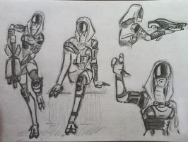 sketches Tali (37) by spaceMAXmarine