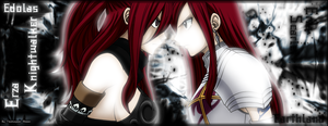 Erza vs Erza SIGN by Akemiii
