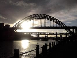 Tyne bridge sunset by Evil-elz