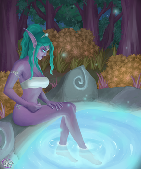 Tyrande by the moonwell by Ellise93