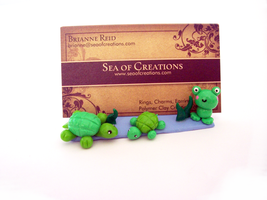 Frog likes Turtles Card Holder by SeaOfCreations