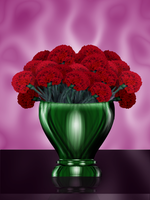 carnation bouquet  virtual by omagrandmother