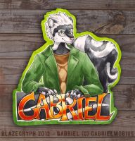 GABRIEL BADGE (For reals this time) by blazegryph