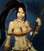Nidalee the Bestial Huntress by Exael-X