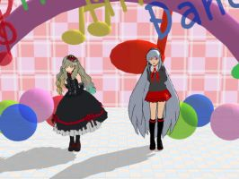 [MMD]Tei and Mayu dancing Happy Synthesizer by KathyKid