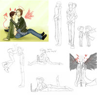 Supernatural Doodles by iondra