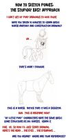 How to Sketch Ponies: The Stupidly Easy Approach by drawponies