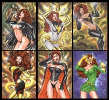 JEAN GREY SKETCH CARD COMMISSIONS by AHochrein2010