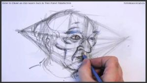Draw An Old Man's Face In Two Point Perspective 23 by drawingcourse