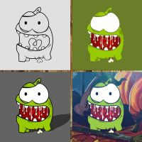 How to Draw  - Undead Om Nom by zsoltott