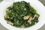 Spinach with sausages by patchow
